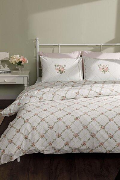English Home Rose Chain Pamuklu Çift Kişilik Nevresim Seti 200x220 Cm Açık Pembe