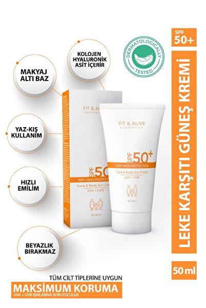 Fit & Alive Fitalive 50+ Spf Leke Karşıtı Güneş Kremi - 50 ml