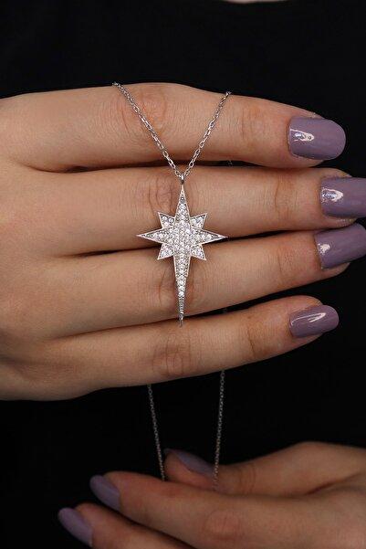Parmas Design Kadın Kutup Yıldızı Tasarım 925 Ayar Gümüş Kolye