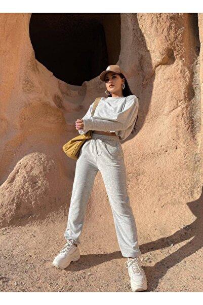Bengi Clothing Kadın Kadife Kumaş Eşofman Takımı