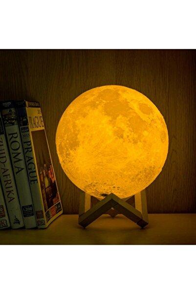 muustie Dolunay Küre Büyük Boy 15 Cm Standlı Ay Işığı Dekoratif Ay Küre Gece Lambası