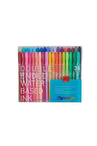 Dong-A My Color 2 Çift Taraflı Keçeli 36 Renk Set