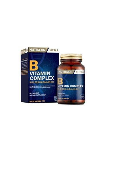 Nutraxin B1, B2, B3, B5, B6, B12 Ve Biotin Içeren B Vitamin Complex 60 Tablet