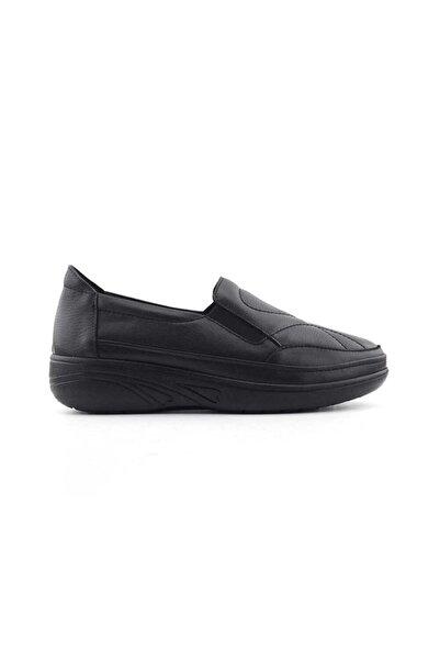 Nehir 2732 Hakiki Deri Kadın Ayakkabı-siyah