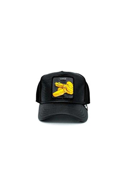 Goorin Bros Night Viper ( Yılan Figürlü) Deri Görünümlü Şapka 101-0823 Siyah Standart
