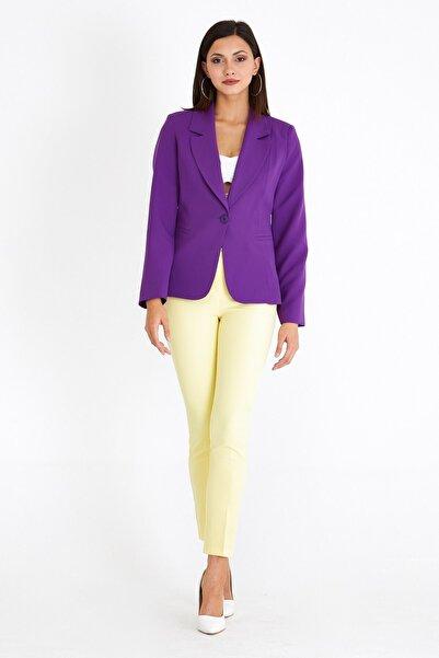 VALE WOMAN Valewoman Şal Yaka Detaylı Içi Astarlı Cepli Blazer Kadın Ceket
