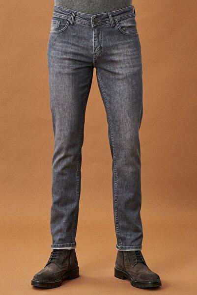 AC&Co / Altınyıldız Classics Erkek Gri Slim Fit Dar Kesim Denim Jean Kot Pantolon