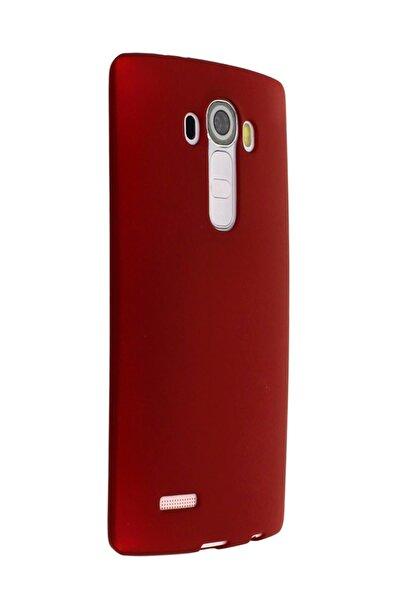 LG G4 Uyumlu Kılıf Premier Renkli Esnek Silikon Kırmızı