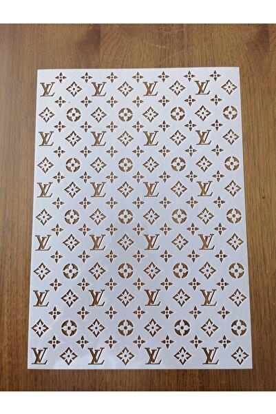 Butikali Express Louis Vuitton Yazılı Ve Logolu Stencil Şablon Set, Tekrar Kullanılabilir Stencil Şablon (8 Parça)