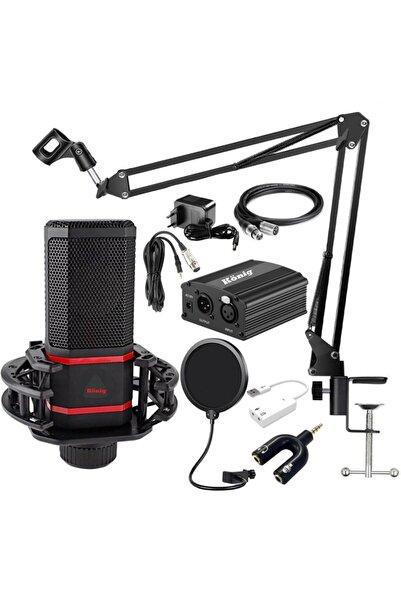 König Bm-620 Youtuber Tiktok Twitch Condenser Stüdyo Mikrofon Set