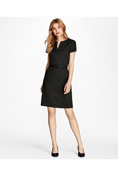 BROOKS BROTHERS Kadın Siyah Kemerli Elbise