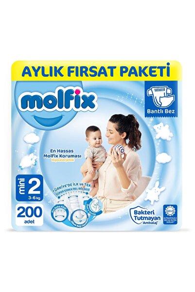 Molfix Bebek Bezi 2 Beden Mini Aylık Fırsat Paketi 200 Adet