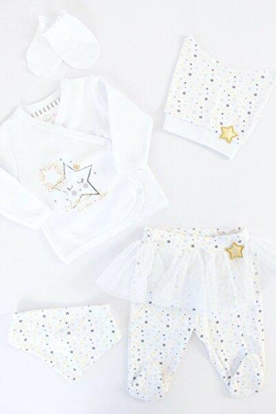 İmaj Bebek Beyaz Yıldızlı Kız 5'li Hastane Çıkışı