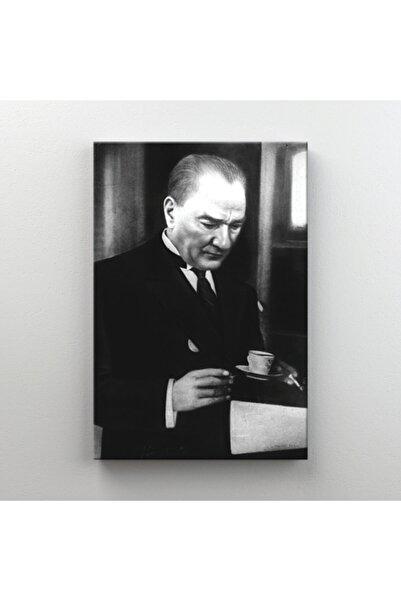 Tabdiko Kanvas Tablo Mustafa Kemal Atatürk Resmi Kahve Dikdörtgen Dekoratif Tablo