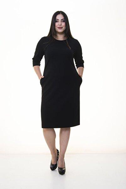 Moday Siyah Cepli Esnek Elbise 34e-1381