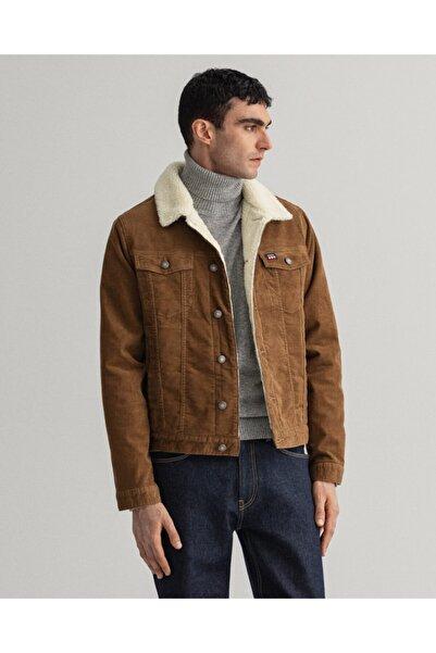 Gant Erkek Kahverengi Kadife Regular Fit Ceket