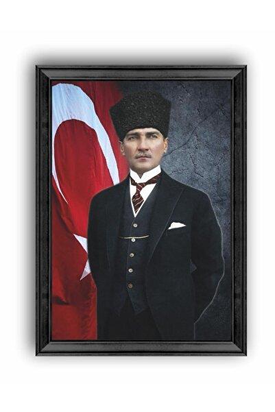 AS TİCARET Atatürk Portresi Çerçeveli Tablo