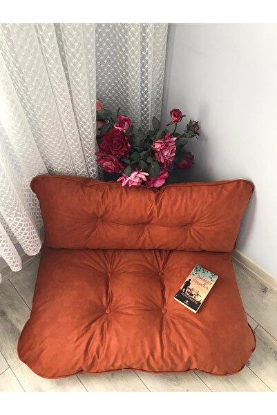 Lavinia Puf Petek Önü Palet Yer Minderi Kiremit Rengi