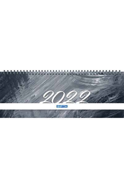 Gıpta 2022 Brite Haftalık Spiralli Masa Takvimi 12x33 Cm (504-btk) Siyah