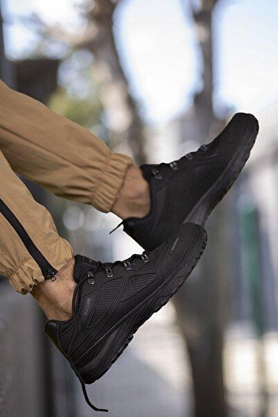 Riccon Siyah Siyah Unisex 3d Rubber Trekking Ayakkabı 00128030