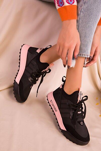 SOHO Siyah-pudra Kadın Sneaker 16597