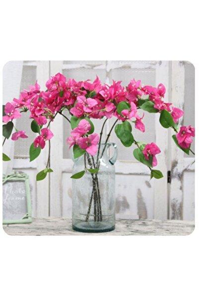 Nettenevime Yapay Çiçek Begonvil Çiçeği Fuşya 80cm Tek Dal Bodrum Çiçeği Sarkan Çiçek