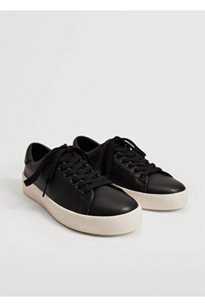 MANGO Man Erkek Siyah Monokrom Spor Ayakkabı