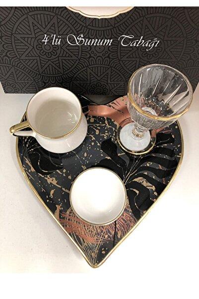Lavin Lüx 4 Parça Keyiflik Kahve Fincan Takımı 1 Kişilik Hediyelik