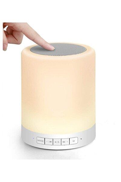 GFUZ Gece Lambası Dokunmatik Lamba Renkli Led Işık Bluetooth Hoparlör Usb Şarj Kablosuz Speaker