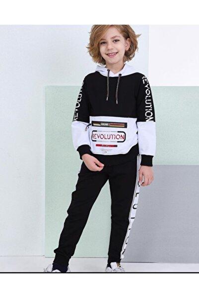 shopshop Şık Model Siyah-beyaz Renk Erkek Çocuk Eşofman Takımı