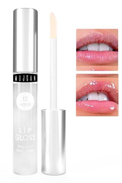 MUJGAN Dudak Bakım Nemlendiricisi Lip Gloss Vitamin E Şeffaf Ambalaj 4 ml