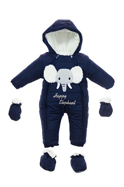 Supriz Sepeti Erkek Bebek Kozmonot Lacivert Renk Içi Welsoft Kapşonlu Çift Fermuarlı