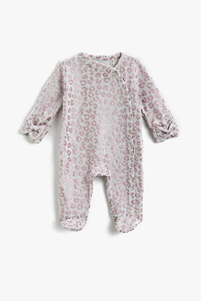 Koton Kız Bebek Gri Desenli Tulum 1KNG13306OK