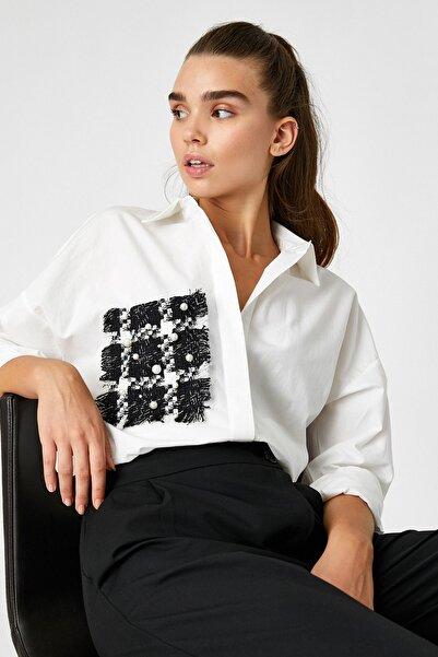 Koton Boncuk Detayli Gömlek