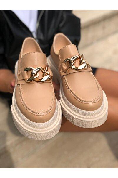 Rossetto Shoes Oslo Kadın Rugan Zincir Detaylı Termo Taban Loafer Ayakkabı