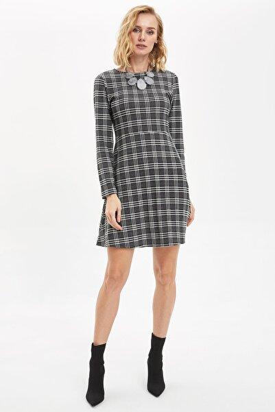 DeFacto Kadın Siyah Örme Elbise N0323AZ.20SP.BK27