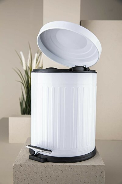 vipgross 5lt Pedallı Çöp Kovası Beyaz 4004-b