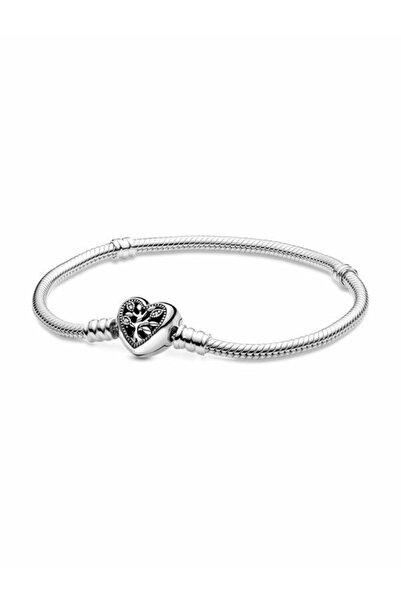 Pandora Moments Aile Ağacı Kalp Klipsli Bileklik