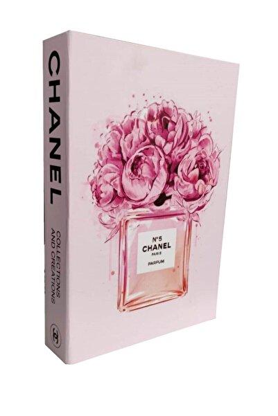 ARSİMA ACCESSORİES Dekoratif Chanel Perfume Kitap Görünümlü Kutu Pembe