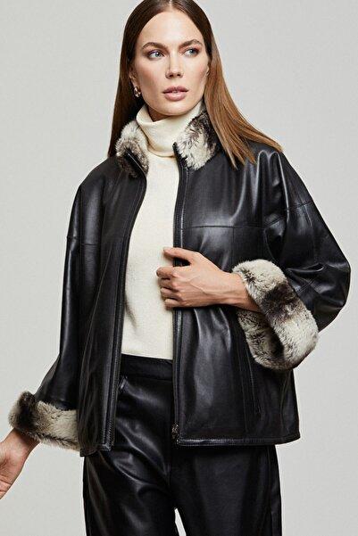 Derimod Della Kadın Deri Ceket
