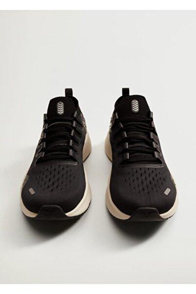 MANGO Woman Kadın Siyah Teknik Kumaşlı Karma Spor Ayakkabı