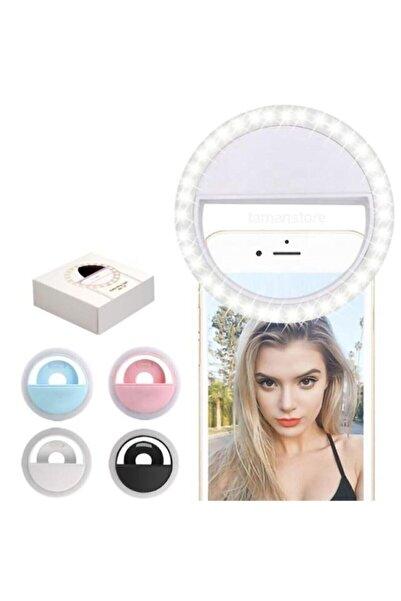 Ring Light Selfie Işık Telefon Işığı Şarjlı 3 Kademeli 36 Led Işık
