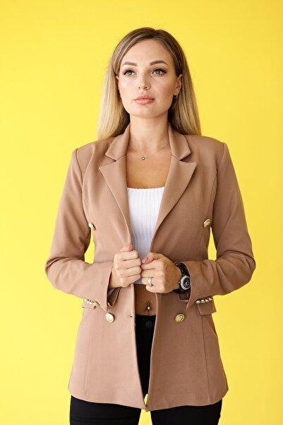 MDL Çift Düğmeli Uzun Blazer Ceket