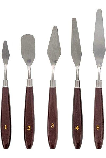 Bigpoint Metal Spatula 5`li Set (Painting Knife)
