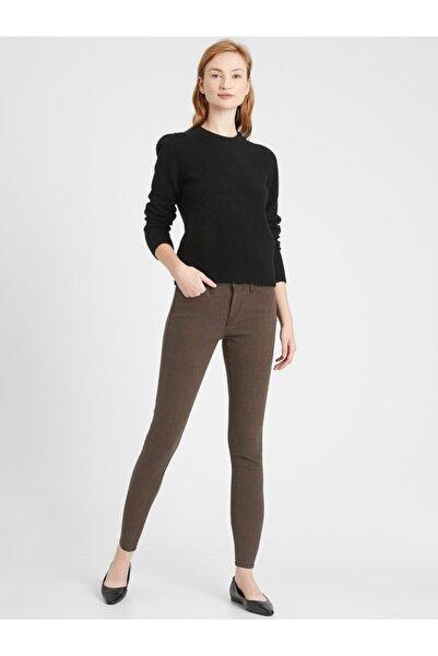 Banana Republic Kadın Kahverengi Mid-rise Skinny Jean Pantolon