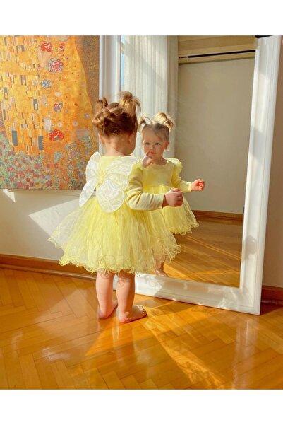 Magu Kız Bebek Sarı Kanatlı Elbise