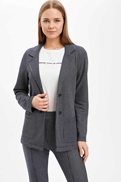 DeFacto Relax Fit Cep Detaylı Blazer Ceket