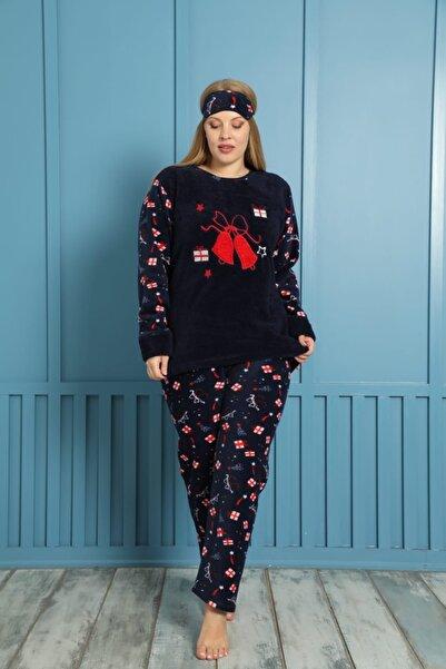 shopshop Kadın Well Soft Büyük Beden Polar Peluş Pijama Takımı-20078