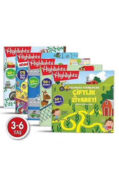 Highlights Yayınları Sticker Eğlenceli Etkinliklerle Hikayeli Bulmaca 5'li Set