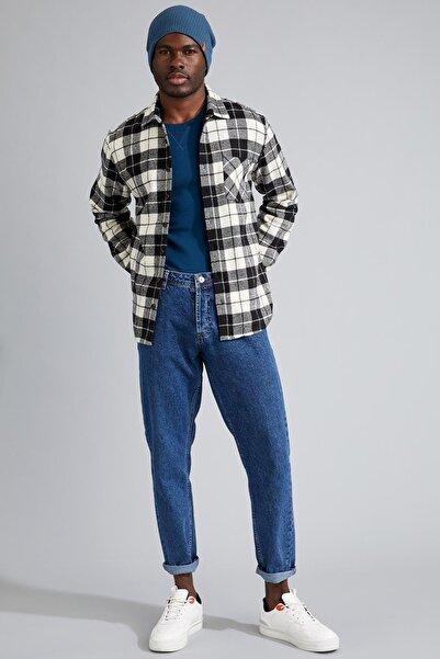 DeFacto Modern Fit Ekose Desenli Uzun Kollu Oduncu Gömlek Ceket